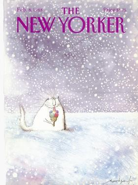 The New Yorker Cover - February 8, 1988 by Ronald Searle