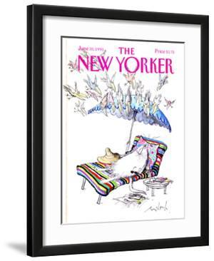 The New Yorker Cover - June 10, 1991 by Ronald Searle