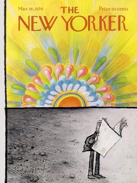 The New Yorker Cover - March 18, 1974 by Ronald Searle