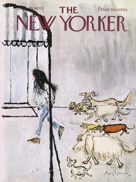 The New Yorker Cover - September 19, 1970 by Ronald Searle