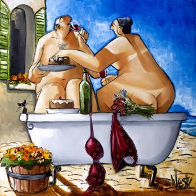 Couple Bathing by Ronald West