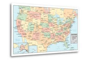 United States Of America Map by rook