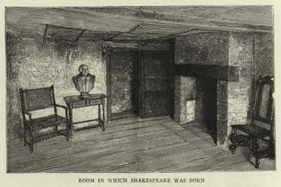 Room in Which Shakespeare Was Born