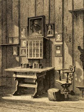 Room of Martin Luther (1483-1546) at Wartburg.. Germany