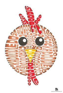 Rooster Cockadoodledoo Text Poster