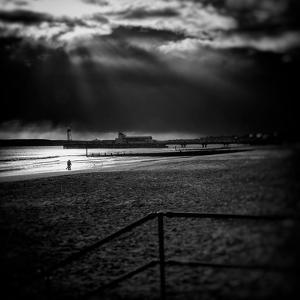 Beach Scene in England with Pier by Rory Garforth