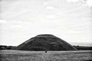 Silbury Hill with Two Lone Figures and Fields by Rory Garforth
