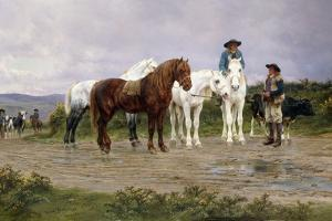 Pyrenees Farmers Market Bound, 1884 by Rosa Bonheur