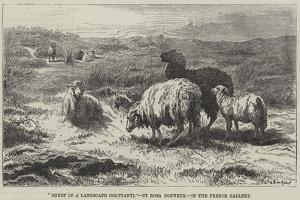 Sheep in a Landscape, Brittany by Rosa Bonheur