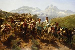 Spanish Muleteers Crossing the Pyrenees, 1857 by Rosa Bonheur