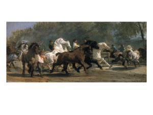 Study for the Horsemarket, 1900 by Rosa Bonheur