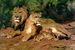 The Lions at Home, 1881 by Rosa Bonheur