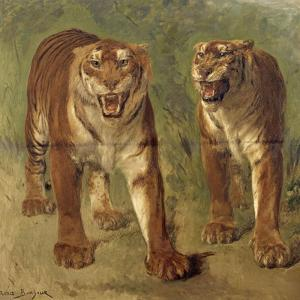 Tigre royal furieux by Rosa Bonheur