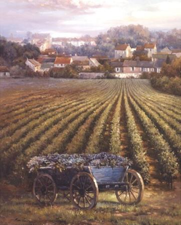Grapes on Blue Wagon by Rosa Chavez