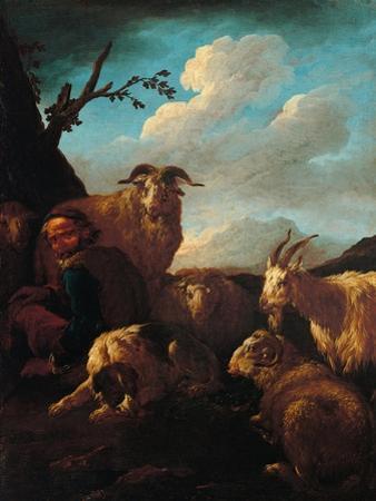 Shepherd with Animals
