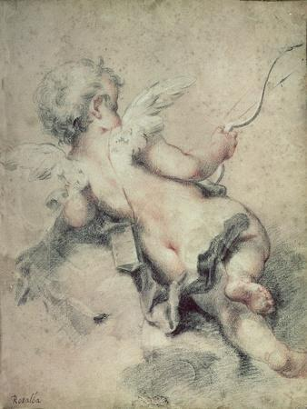 Cupid Lying on the Clouds