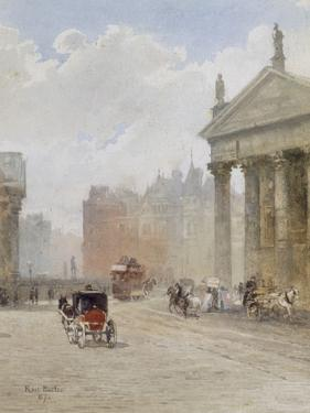 College Green, Dublin, 1887 by Rose Maynard Barton