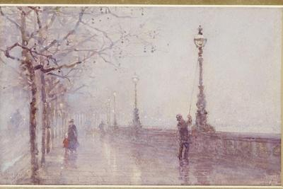 The Last Lamp, Thames Embankment, 1892