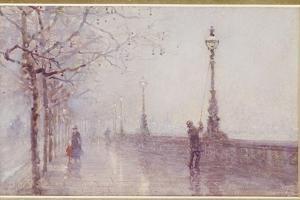 The Last Lamp, Thames Embankment, 1892 by Rose Maynard Barton