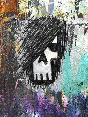 Graffiti Sketch Skull by Roseanne Jones