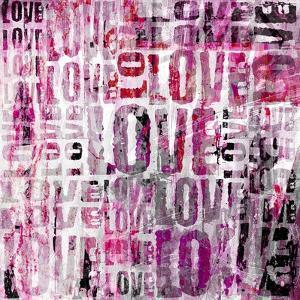 Grunge Love Square by Roseanne Jones