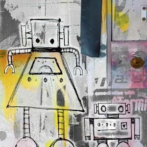 Mum and Son Robots by Roseanne Jones