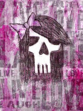 Pink Skull Princess by Roseanne Jones
