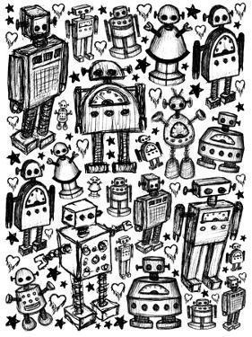 Robot Crowd by Roseanne Jones