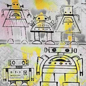 Robot Family by Roseanne Jones