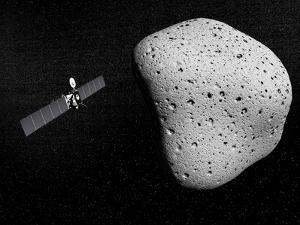 Rosetta Probe and Comet 67P Churyumov-Gerasimenko