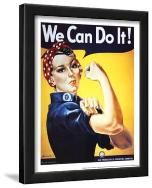 Rosie the Riveter (Female Worker - World War II) Art Poster Print