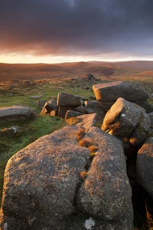 Moorland View at Belstone with Granite Outcrops, Near Okehampton, Dartmoor Np, Devon, England, UK by Ross Hoddinott