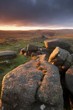 Moorland View at Belstone with Granite Outcrops, Near Okehampton, Dartmoor Np, Devon, England, UK by Ross Hoddinott