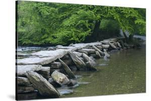 Tarr Steps, Medieval Clapper Bridge Crossing the River Barle, Exmoor National Park, Somerset, UK by Ross Hoddinott