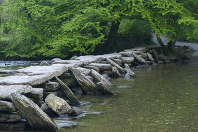 Tarr Steps, Medieval Clapper Bridge Crossing the River Barle, Exmoor National Park, Somerset, UK by Ross Hoddinott