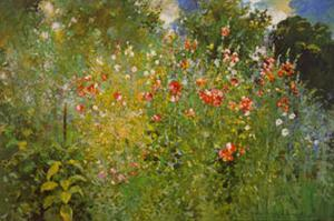 Garden Is A Sea Of Flowers by Ross Sterling Turner
