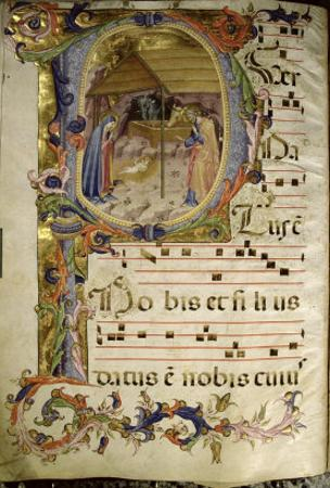 Graduale No.5 Historiated Initial P Depicting the Nativity