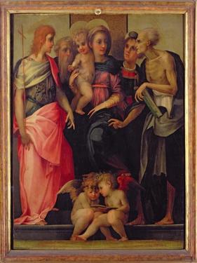 Madonna and Child with Saints, c.1518 by Rosso Fiorentino (Battista di Jacopo)