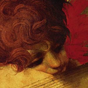 Musical Angel (detail) by Rosso Fiorentino (Battista di Jacopo)