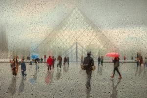 Rain in Paris by Roswitha Schleicher-Schwarz