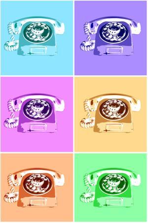 Rotary Telephone Vintage Pop Art Print Poster