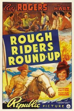 ROUGH RIDERS ROUND-UP, Roy Rogers, Trigger, Lynne Roberts [aka Mary Hart], 1939
