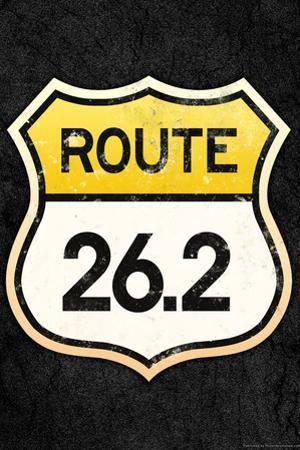 Route 26.2 Marathon Sports Plastic Sign