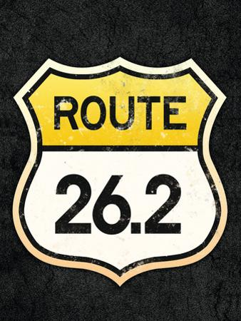 Route 26.2 Marathon Sports Poster