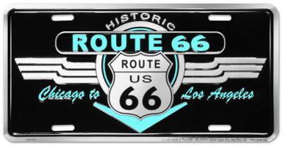 Route 66 Deco Auto Tag