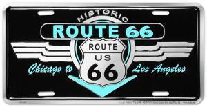 Route 66 Deco Auto Tag