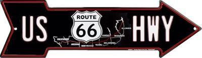 Route 66 Map Arrow
