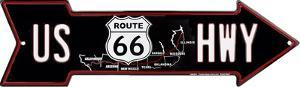 Route 66 Map Arrow