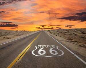 Route 66 Sign Mojave Desert