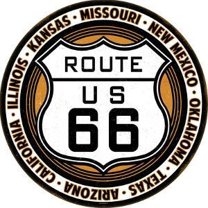 Route 66 Tin Button Sign